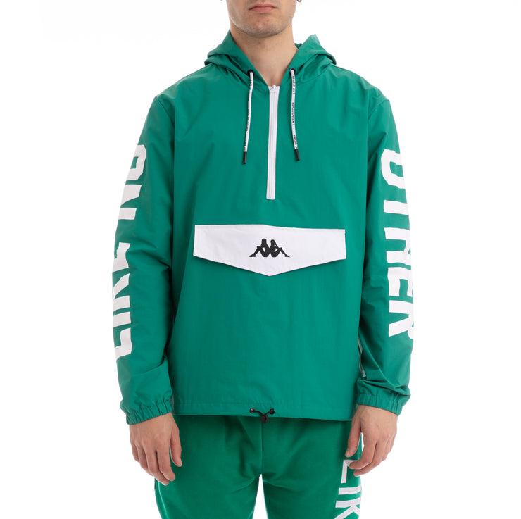 Kappa Authentic Baspar Green White Jacket