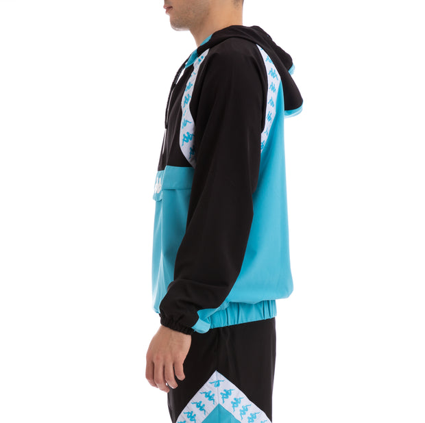 Kappa Authentic Bakit Black Turquoise White Anorak