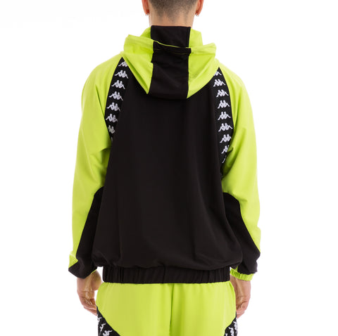 Kappa Authentic Bakit Green Lime Black White Anorak