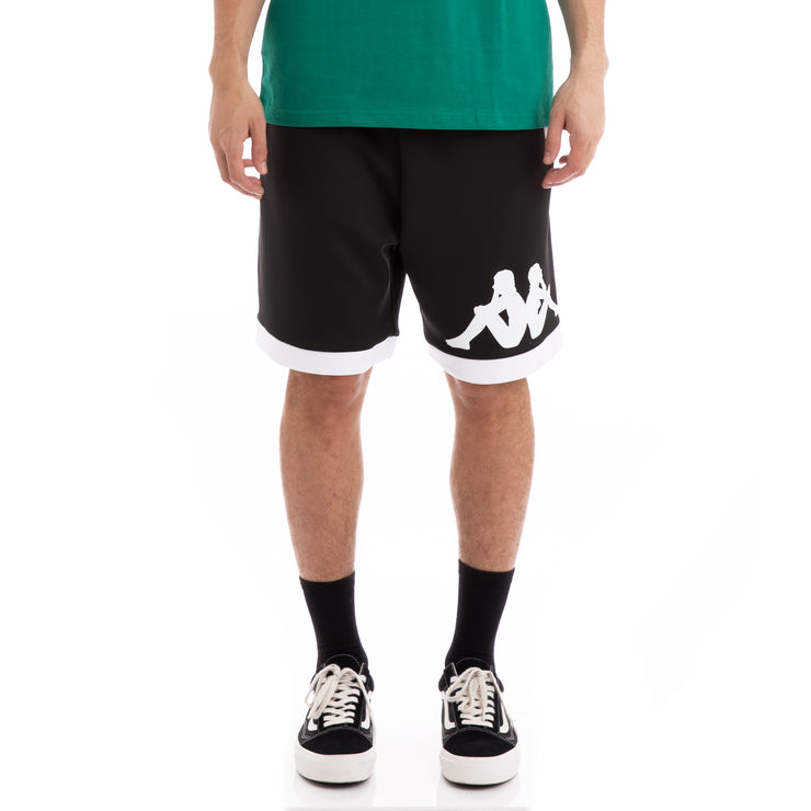 Kappa Authentic Bayn Black White Shorts