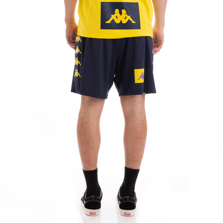 Kappa Authentic Baox Blue Yellow Violet Shorts