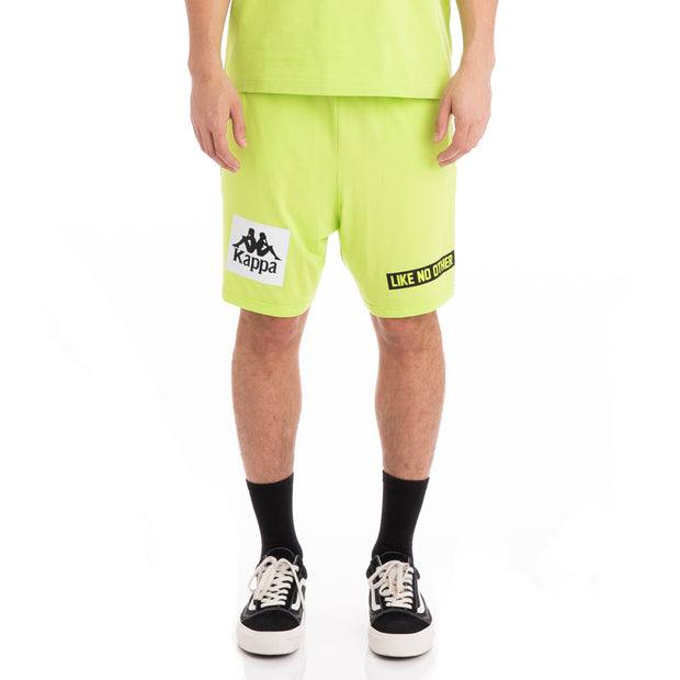 Kappa Authentic Baox Green Lime Black White  Shorts