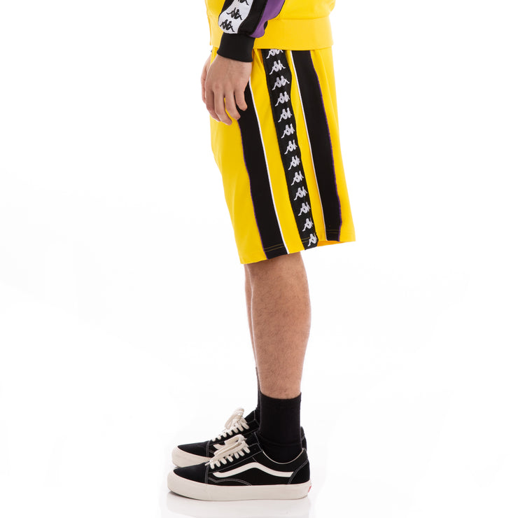 Kappa Authentic Berno Yellow White Violet Shorts