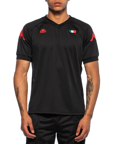 Kappa Mens Authentic Walson Black Jersey - Front