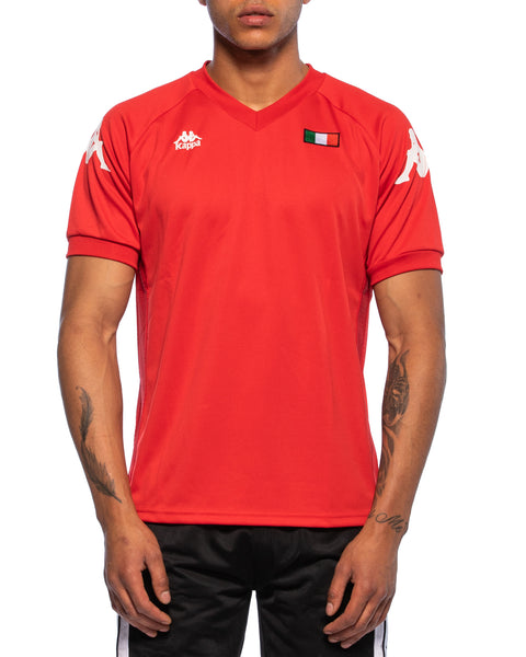 Kappa Mens Authentic Walson Red Jersey - Front