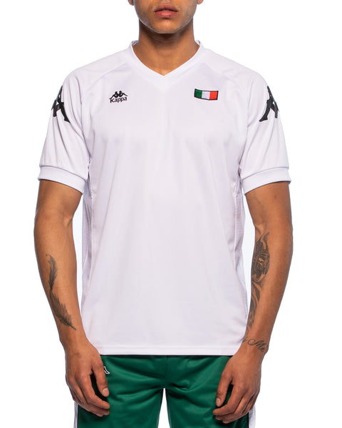 Kappa Mens Authentic Walson White Jersey - Front