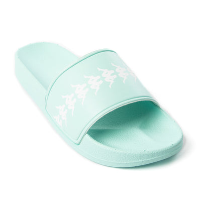 222 Banda Adam 4 Slides - Green Aqua White