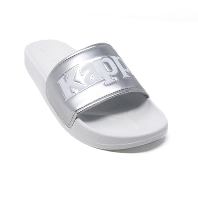 222 Banda Adam 9 Slides - White Silver