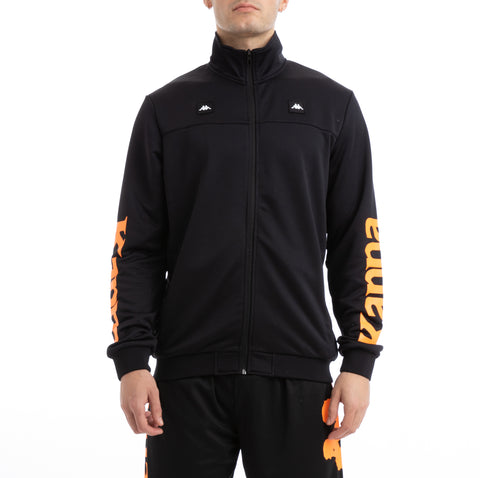 Kappa Kalcio Bouvilly Black Orange Track Jacket