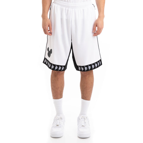 Kappa Authentic Bays Disney White Black Shorts