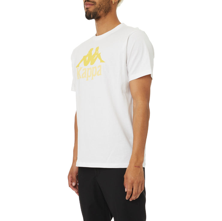 Authentic Estessi T-Shirt - White Orange Yellow