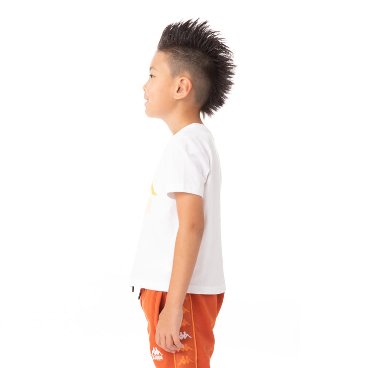 Kids Authentic Estessi T-Shirt - White Yellow