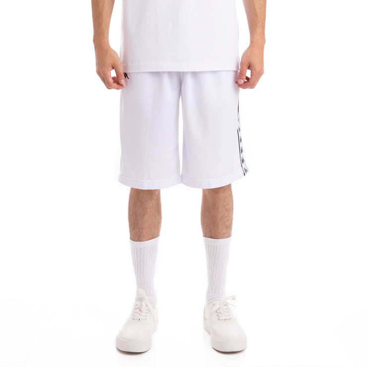 Kappa 222 Banda Treadwellz White Black Shorts