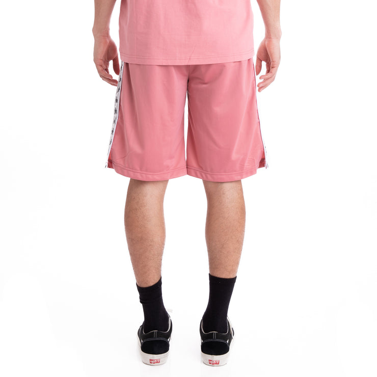 Kappa 222 Banda Treadwellz Pink Grey Silver Black Shorts