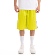 Kappa 222 Banda Treadwellz Green Lime White Shorts