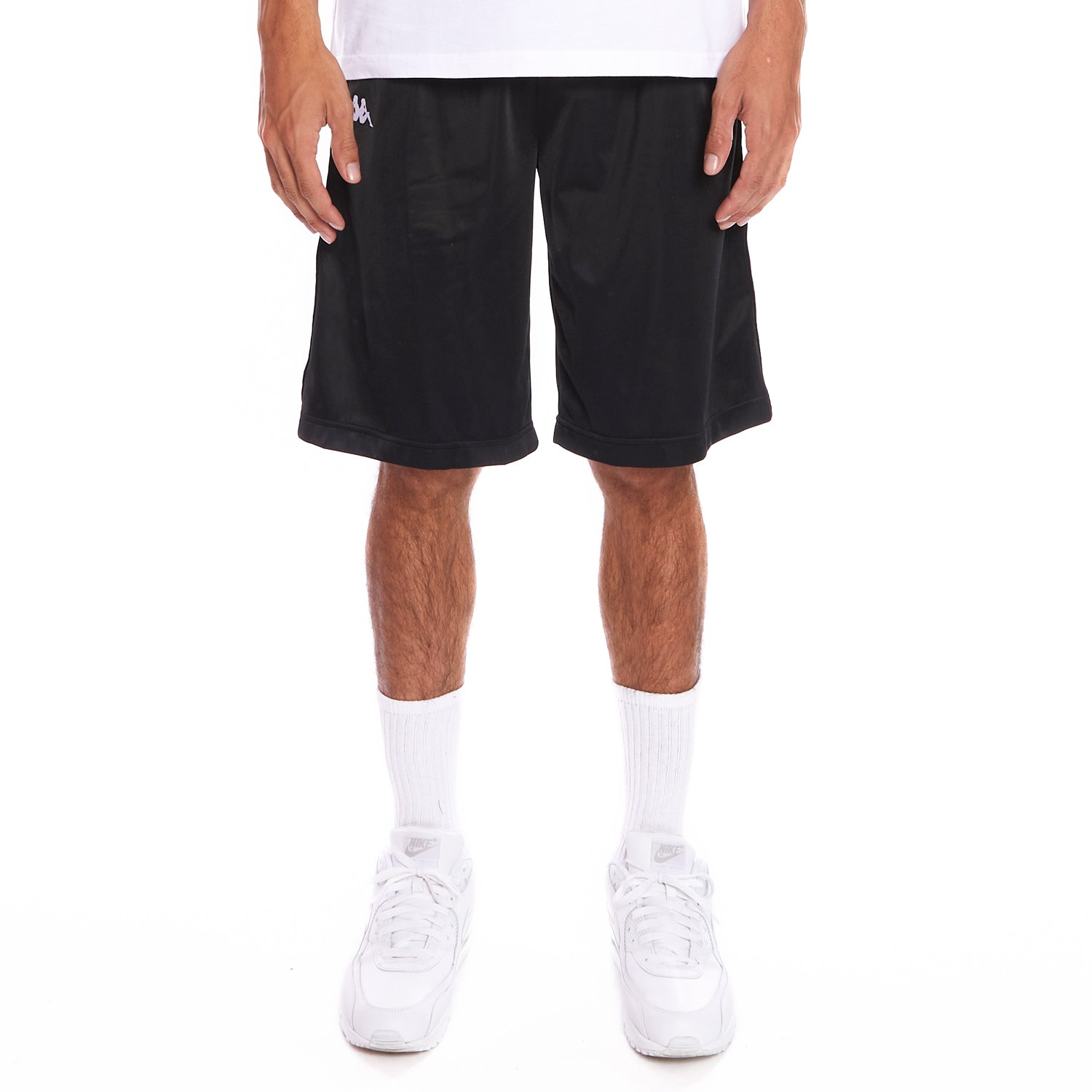 Kappa 222 Banda Treadwellz Shorts - Black White