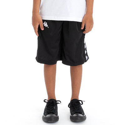 Kids 222 Banda Treadwellz Shorts - Black White