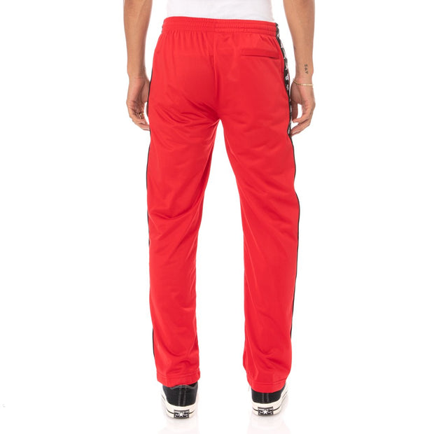 Kappa 222 Banda Astoriazz Trackpants - Red Black  Edit alt text