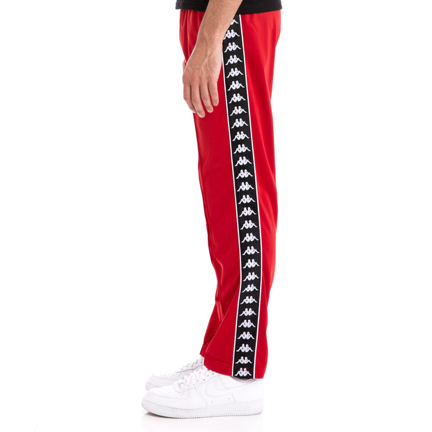 Kappa 222 Banda Astoriazz Red Black Trackpants