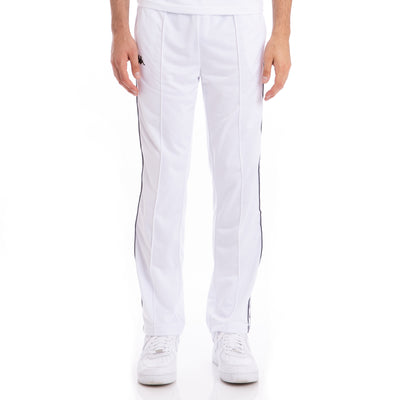 Kappa 222 Banda Astoriazz White Black Trackpants