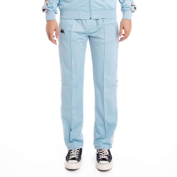 Kappa 222 Banda Astoriazz Azure Grey Silver Black Trackpants