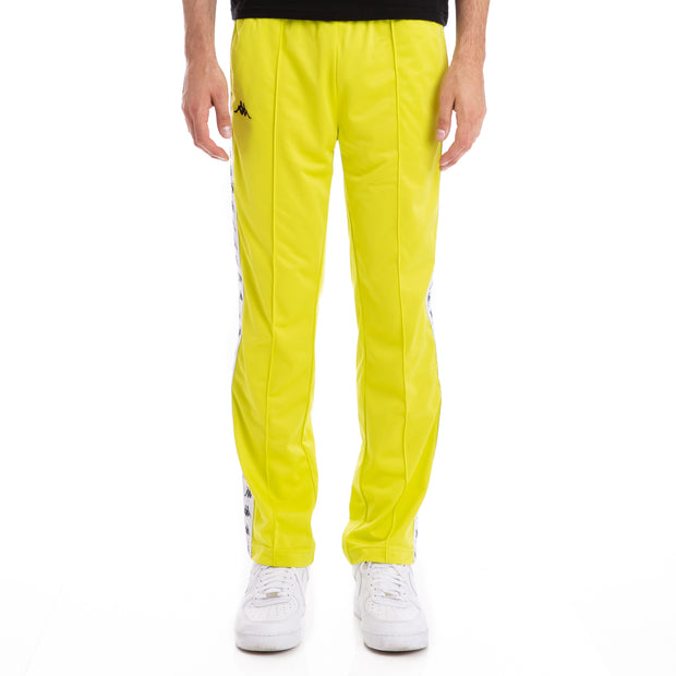 Kappa 222 Banda Astoriazz Green Lime White Trackpants