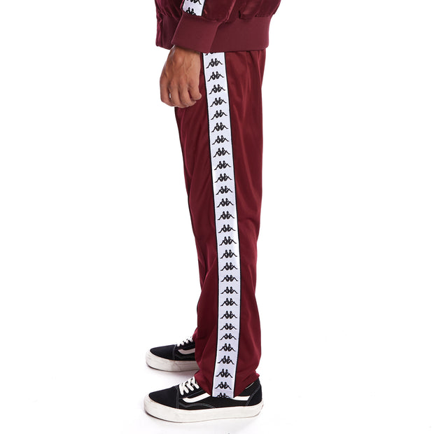 Kappa 222 Banda Astoriazz Trackpants - Red Dahlia White