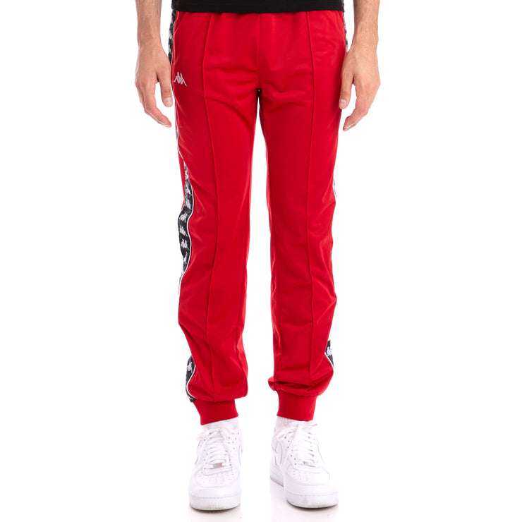 Kappa 222 Banda Rastoriazz Red Black Trackpants
