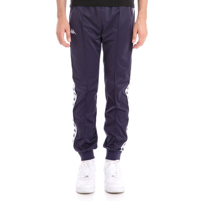 Kappa 222 Banda Rastoriazz Blue Marine White Trackpants