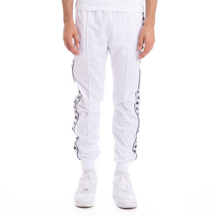 Kappa 222 Banda Rastoriazz White Black Trackpants