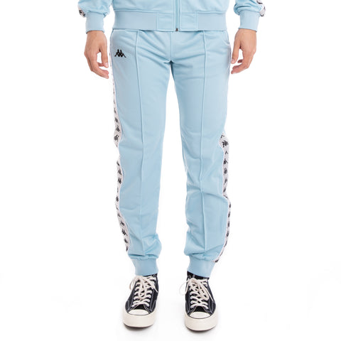 Kappa 222 Banda Rastoriazz Azure Grey Silver Black Trackpants