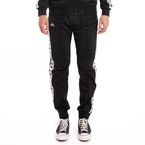 Kappa 222 Banda Rastoriazz Black Grey Silver White Trackpants