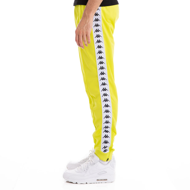 Kappa 222 Banda Rastoriazz Green Lime White Trackpants