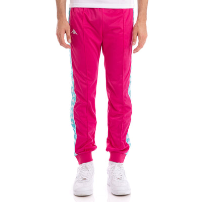Kappa 222 Banda Rastoriazz Fuchsia Green Lt Trackpants