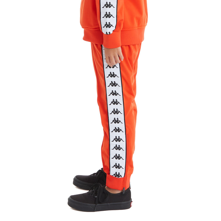 Kappa Kids 222 Banda Rastoriazz Trackpants - Orange Flame White