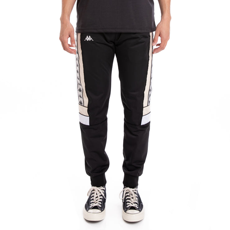 Kappa 222 Banda Memzz Black Grey Silver Beige Trackpants