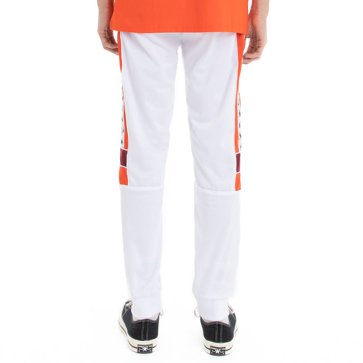 Kappa 222 Banda Memzz Trackpants - White Red Dahlia