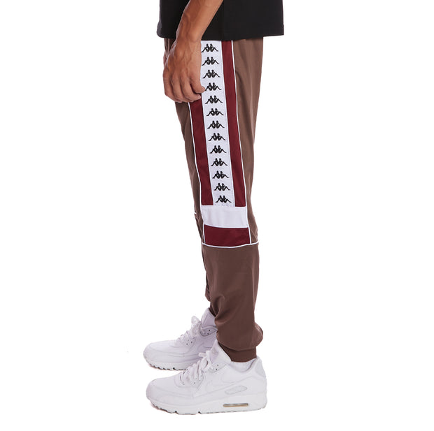 Kappa 222 Banda Memzz Trackpants - Grey Russet Red Dahlia White