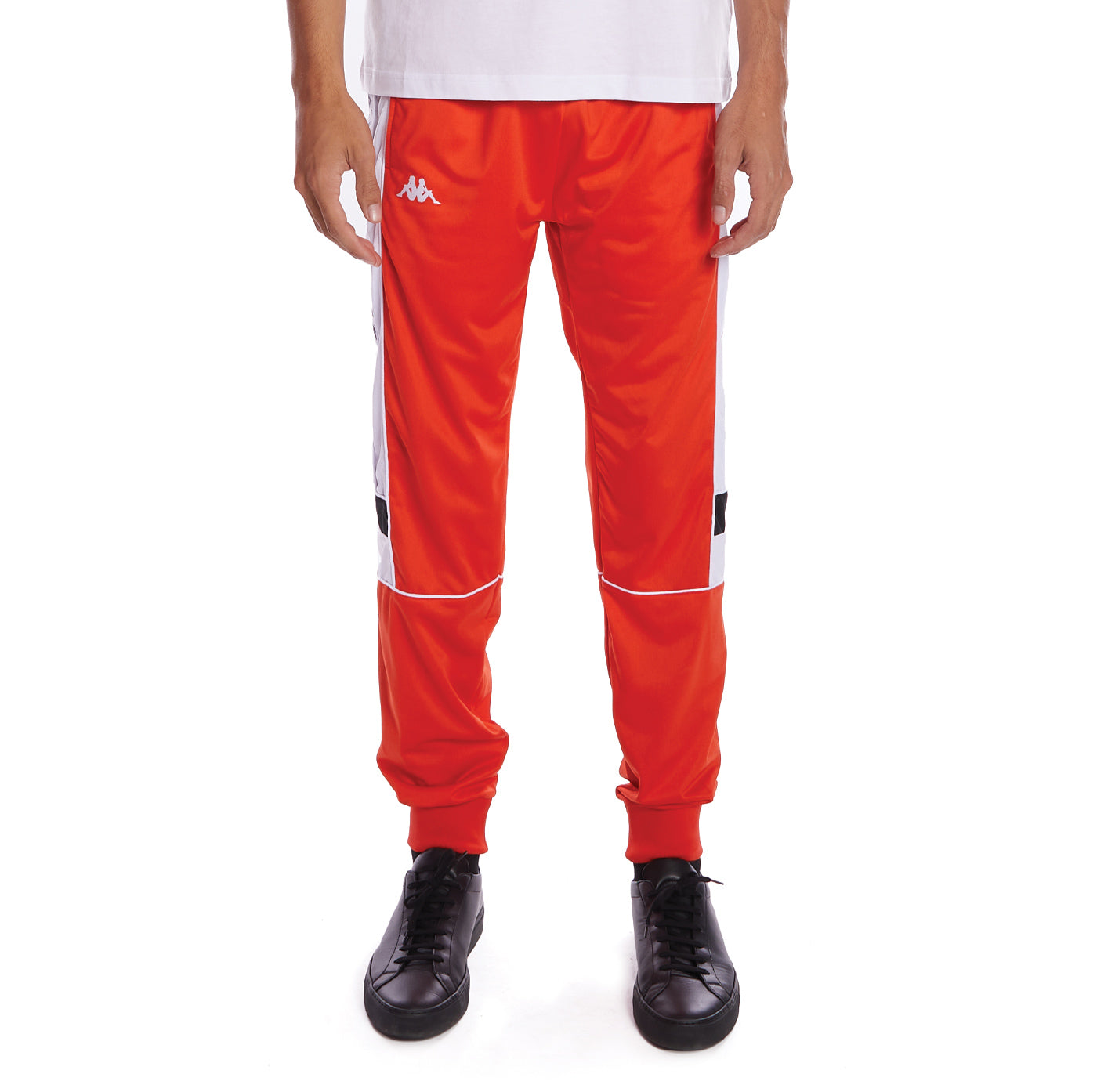 Kappa 222 Banda Memzz Trackpants - Orange Flame Black White