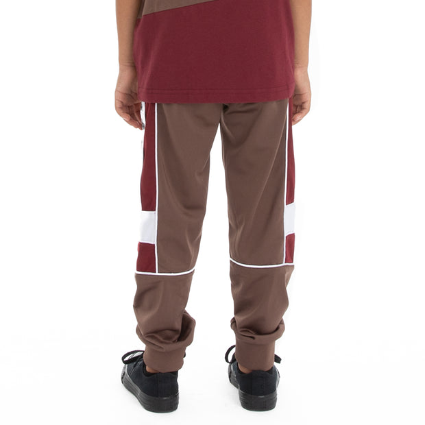 Kappa Kids 222 Banda Memzz Trackpants - Grey Russet Red Dahlia White