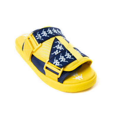 222 Banda Mitel 1 Sandals - Yellow Bue White