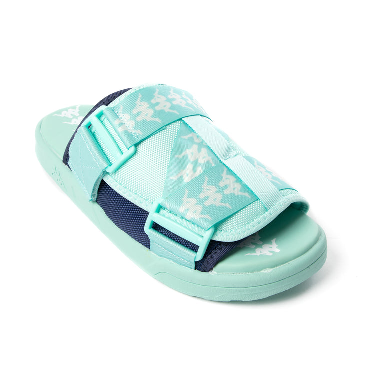 222 Banda Mitel 1 Sandals - Green Blue White