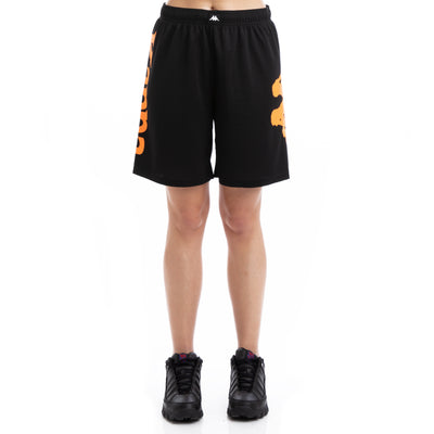 Kappa Kalcio Boltecs Black Orange Shorts