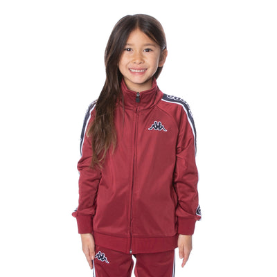Kids Logo Tape Artem Track Jacket - Scarlet Navy