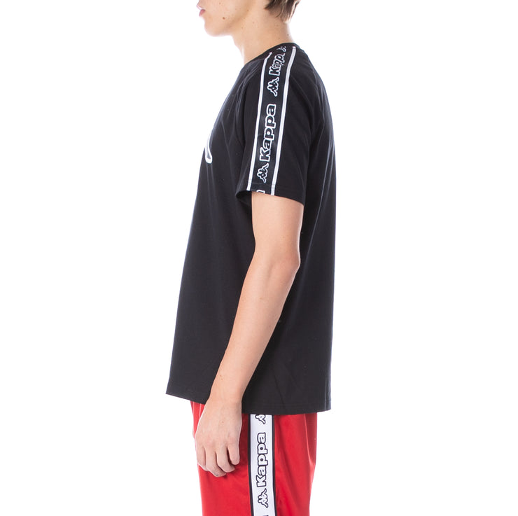 Logo Tape Avirec T-Shirt Black Black White