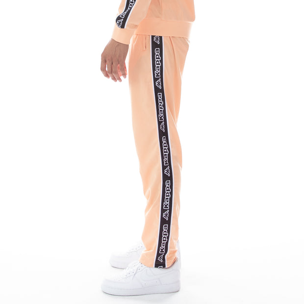 Logo Tape Aplec Trackpants - Flesh Black White