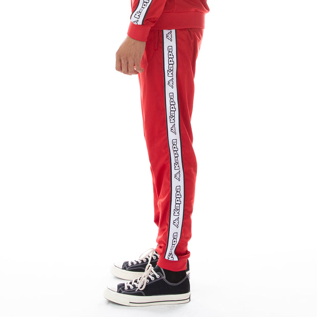 Logo Tape Alic Trackpants Red White Black