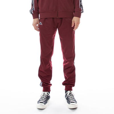 Logo Tape Alic Trackpants - Red Bordeaux Black White