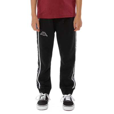 Kids Logo Tape Anira Sweatpants - Black White