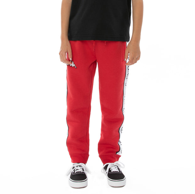 Kids Logo Tape Anira Sweatpants - Red White